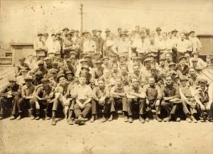 Spelter zinc workers