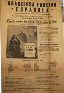 Photo courtesy of Joe Galván of San Leandro, California.  Joe's mother performed on the program announced on the handbill.