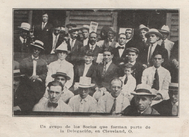 Españoles en Cleveland, 1919.  Courtesy of Laura Goyanes.