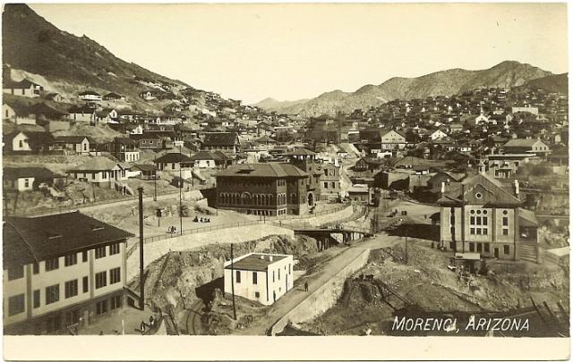 PostcardMorenciAZAerialViewCirca1910